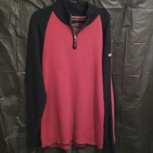 Nautica Jeans Co 1/4 zip pullover ribbed sweater
